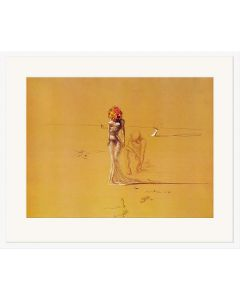 Female Figure with Head of Flowers - Salvador Dali