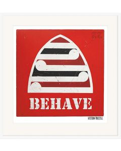 Red Behave Print - Weston Frizzell