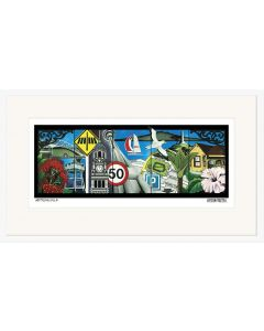 Metropacifica Print of Auckland - Weston Frizzell