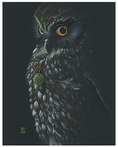 Dark Morepork - WiId Honey Art