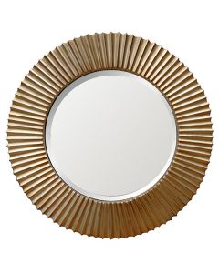 Crinkled Round Mirror GOLD