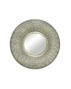 Round Pressed Metal Mirror
